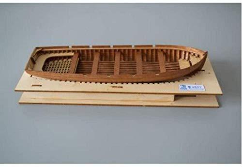 RUXMY Decoración Modelo de velero Escala 1:48 Kit de Modelo de Bote Salvavidas de Madera Cortado con láser Modelo de Bote Salvavidas 195Mm