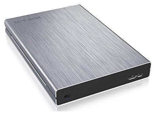 ICY BOX Externes 2,5 Zoll Gehäuse für Festplatten und SSD, Schreibschutz gegen Datenverlust/Virusinfektion, USB 3.0 Anschluss, SATA III, UASP