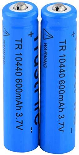 3,7 v 600 mah 10440 baterías de Iones de Litio de Litio baterías Recargables para antorcha luz Led Linterna Control Remoto-2 Piezas