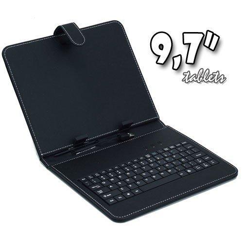 biwond 55003 - Funda de cuero para tableta de 9.7' con teclado...