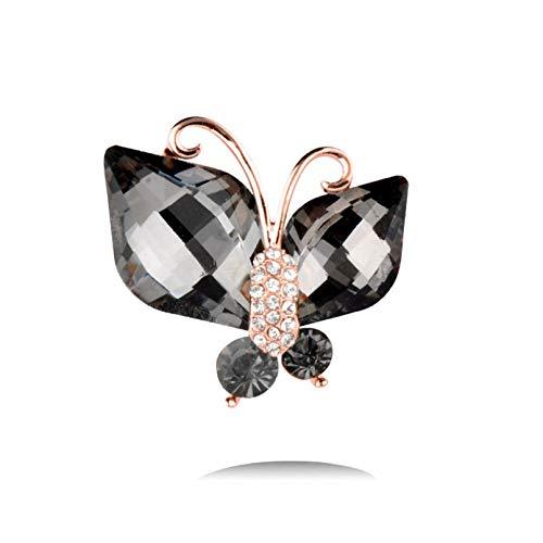QPODGQ Broche Encantador Lindo Rosa Blanco Diamantes De Imitaci¨n Conejo Conejito Animal Broches Pin Accesorios De Joyer¨ªa De Traje Femenino