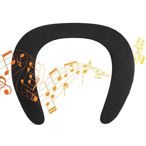 Banda para el Cuello Altavoz Bluetooth portátil Altavoz inalámbrico True 3D Sonido estéreo Incorporado Micrófono con 12H Tiempo de reproducción portátil Bluetooth Ligero Altavoz Manos Libres