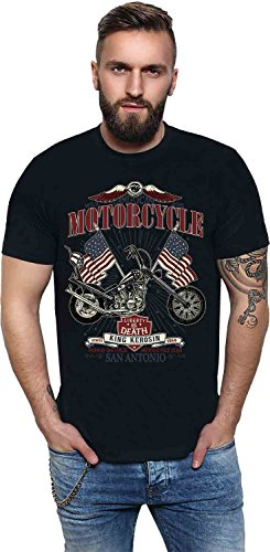 King Kerosin Krauts Motorcycle Shop Regular T-Shirt Black