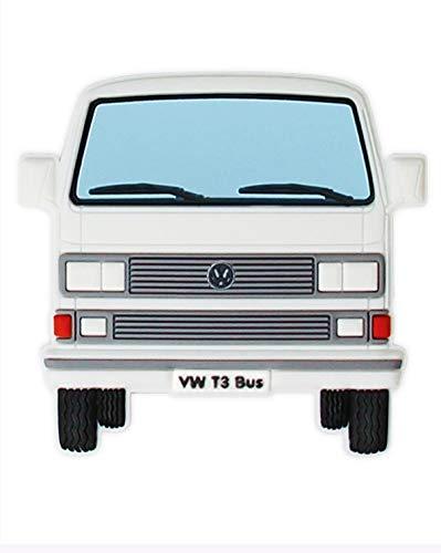 BRISA VW Collection - Volkswagen T3 Bulli Bus Rubber Magnet - Front/weiß