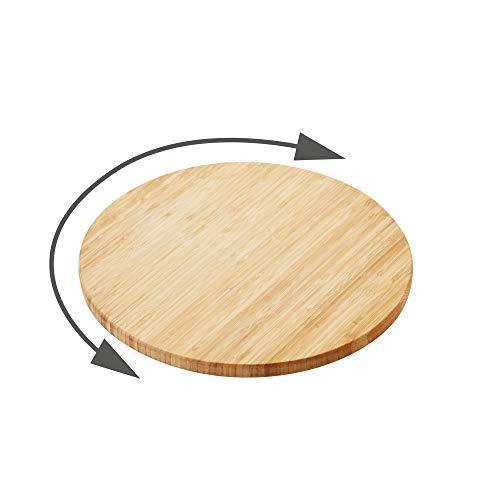 Point-Virgule plateau tournant patisserie en bambou, decoration cuisine, ustensile patisserie, ø 35cm