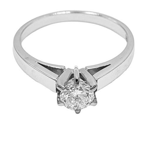 Brillantring Solitär Ring Diamant 750 Weißgold Verlobung Juwelier Wohlschlager