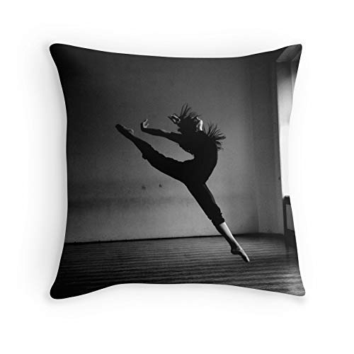HOJJP Almohada Case A Dancer. for Sofa Couch Living Room Bed Decorative (Square 16x16)