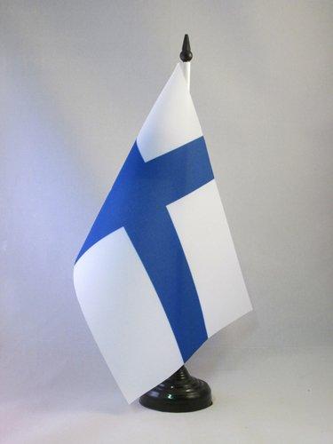 AZ FLAG TISCHFLAGGE FINNLAND 21x14cm - FINNISCHE TISCHFAHNE 14 x 21 cm - flaggen