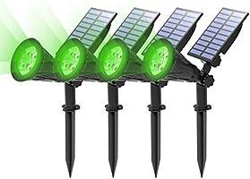 (4 Unidades )T-SUN Foco Solar, Impermeable Luces Solares Exterior, Luz de Jardín, 2 Modos de Iluminación Opcionales,...