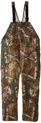 Carhartt Men's Quilt Lined Camo Bib Overalls,Realtree Xtra,Medium