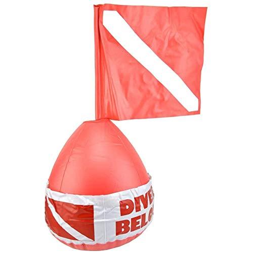 OVBBESS Señal de advertencia de posicionamiento de flotador de boya para buceadores de superficie en bola flotante en el mar para señalización de superficie