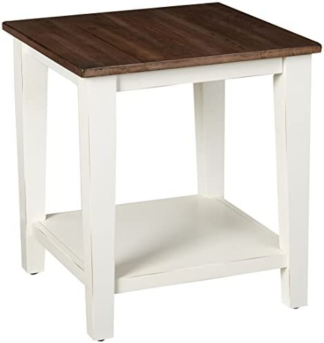 Best Lane Home Furnishings 7557-47 End Table, Greige White