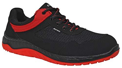 ELTEN LONNY red Low ESD S1P Sportliche Sicherheits-Sandale mit INFINERGY© Dämpfung | Microfaser/Textilmaterial | Stahlkappe | Lederfrei | Metallfreier Durchtrittschutz | Textilfutter | Gr. 35-48