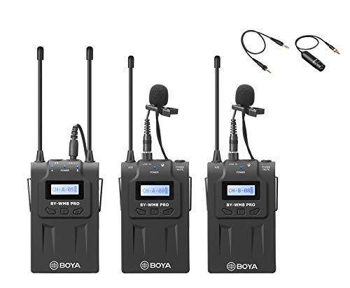 Micrófono Lavalier inalámbrico con micrófono de Lavalier BOYA BY-WM8 PRO K2 omnidireccional para cámara DSLR y videocámara XLR ENG EFP