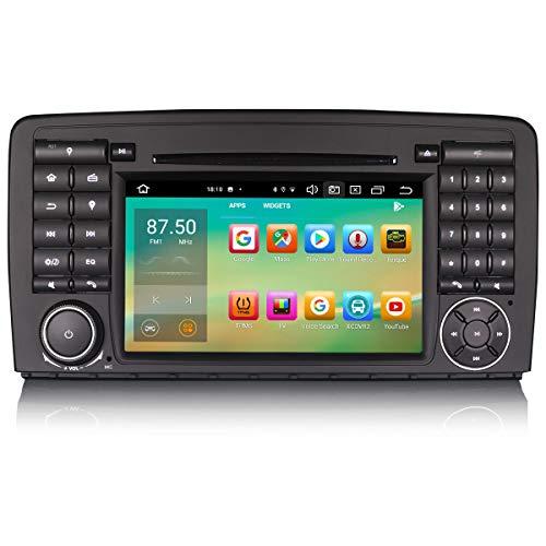 ERISIN 7 Zoll Android 10.0 Autoradio für Benz R-Klasse W251 Unterstützt GPS-Navi Carplay Android Auto DSP Bluetooth A2DP DVB-T/T2 WiFi DAB+ 8-Kern 4GB RAM+64GB ROM
