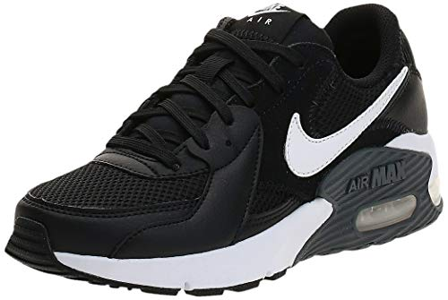 Nike Air MAX Excee, Running Shoe Mujer, Negro/Blanco/Gris Oscuro,...