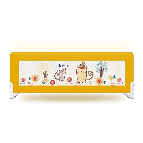 Rail Gris très Grand de lit pour des Enfants en Bas âge, Pliable pour Le Rail de Garde de lit de bébé d'enfants 200cm de Long