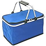 cretom(クレトム) 買い物用 レジカゴ対応 折りたたみバスケット ブルー 断熱素材使用 CFD33
