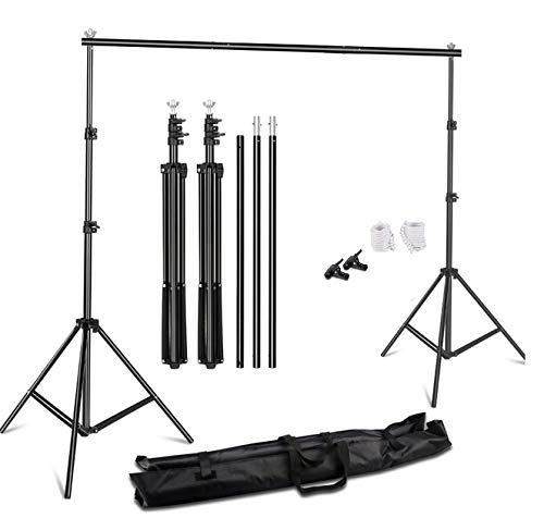YUGAM Photography Backdrop Stand Kit Background Support Kit Foldable with Bag (ONLY Stand KIT)