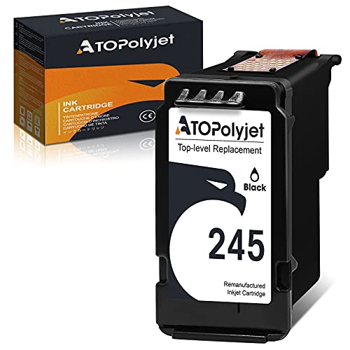 ATOPolyjet Remanufactured 245 Ink Cartridge Replacement for Canon 245 PG-245 PG-243 for PIXMA TR4520 TR4522 MG2522 MG2520 MG2525 MG2920 MG3022 MX490 MX492 TS202 TS3420 TS3122 MG3029 Printer