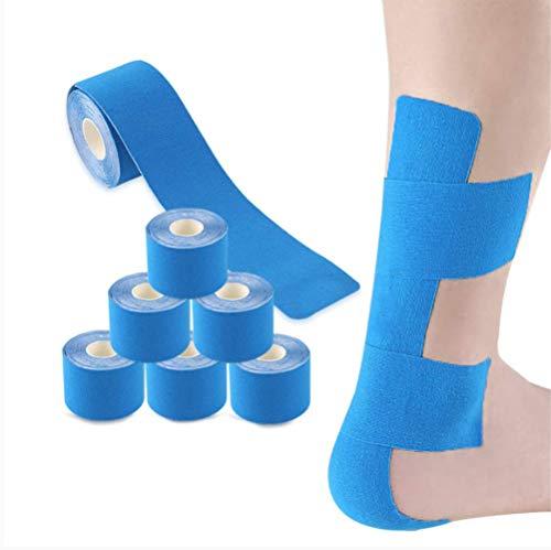 Chongshang Bandage Autoadhesivo Pasta Muscular Deportes Vendaje Profesional Running Fitness Rodilla cepa cepa músculo eficaz especificación de Cinta Adhesiva 5cm x 5m Material de algodón