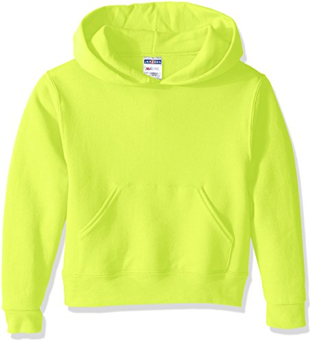 Jerzees Youth Pullover Hood, Safety Green, Small