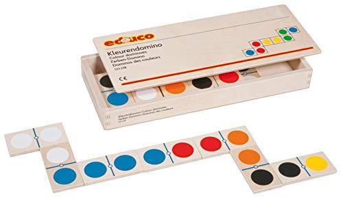Educo | Farben-Domino | Lehrmaterialien Maßstäbe & Waagen | Mathematik - Geometrie - Farbe und Form | Ab 84 Monate | Bis 144 Monate, natürlich