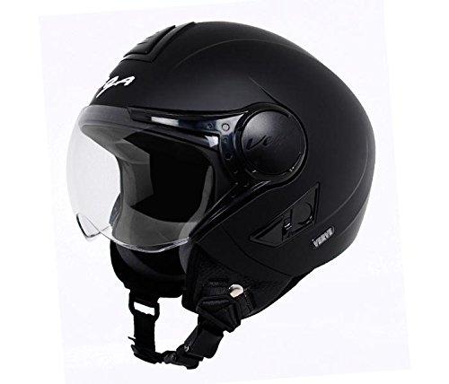 Vega Men Full Face Helmet (Dull Black_Medium)
