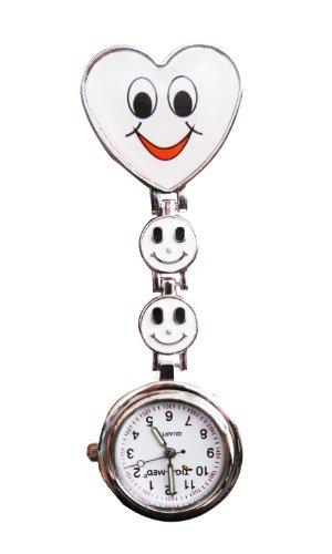 Diseño de cara sonriente de enfermería con para mando a distancia reloj...