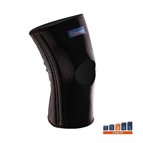 Verstärkte Neopren-Kniebandage von Thuasne Sport - Schwarz - Größe M