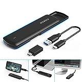 FIDECO M.2 NVME SSD Gehäuse - PCIe USB 3.1, Gen 2, 10Gbps, USB C-Festplattengehäuse Adapter und Caddy für M-Key oder M+B Key NVME SSD 2230/2242/2260/2280 (Werkzeugfreie Installation)