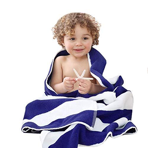 PORTER EN LAMBERT bad/strand Cabana handdoeken - blauw & wit chloorbestendig met hoge absorptie (70 x 150 inch 420gsm)