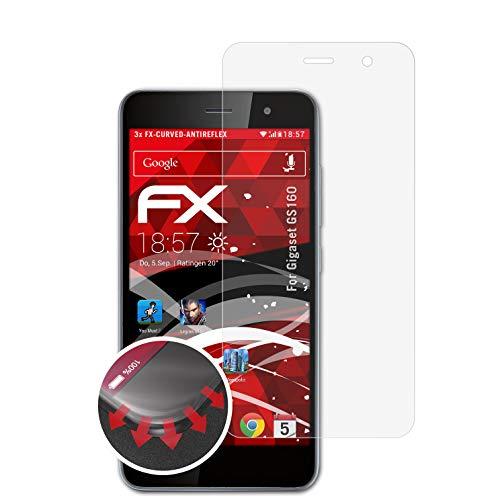 atFolix Schutzfolie kompatibel mit Gigaset GS160 Folie, entspiegelnde & Flexible FX Bildschirmschutzfolie (3X)