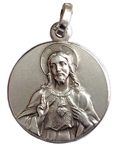Medaille von der Heiliges Herz von Jesus - 925 Sterling Silber