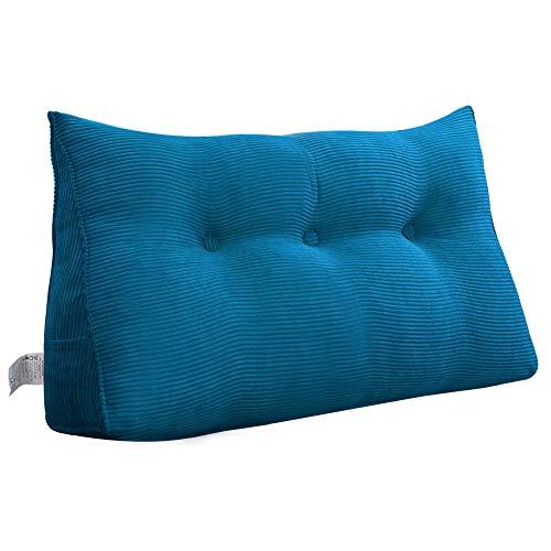 VERCART Wedge Pillow Bed Wedge Pillow Sofa RückenlehneKopfkissen,Keilkissen, Rückenkissen, Fernsehkissen, Ergokissen weich und bequem aus Softer Microfaser, waschbar, Blau
