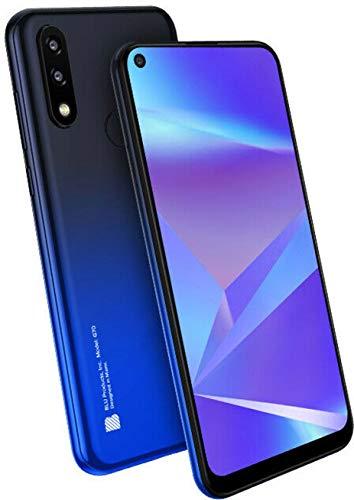 "BLU G70 G0250WW 6.4"" HD+ Infinity Dot 32GB Dual-SIM GSM Smartphone, 2GB RAM, Dual 13MP Rear + 8MP Front Camera, Mediatek Helio P23, Android 9 Pie, Unlocked, Blue"