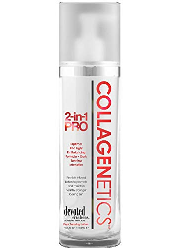 Collagenetics 2 in 1 Pro Red Light Therapy Prep Lotion & Tan Acc
