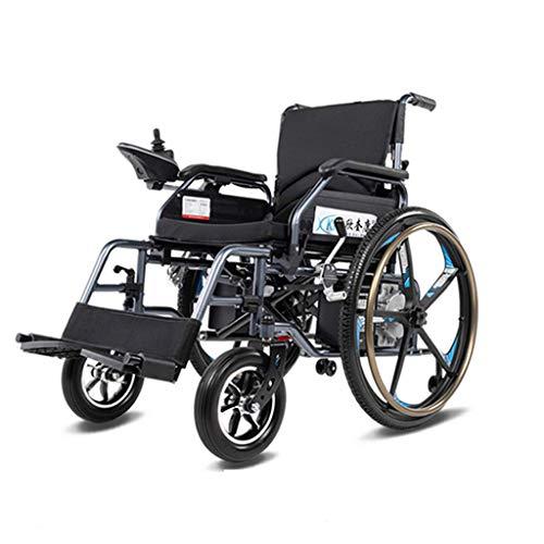 YXB Bestting Plegable Power Compact Mobility Aid Silla de Ruedas, Smart Drive Motor Silla de Ruedas Normal para discapacitados Mayores