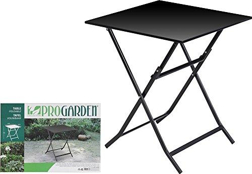 Koopman Klapptisch 60x60 cm Gartentisch Tisch Balkontisch Gartenmöbel Metall schwarz