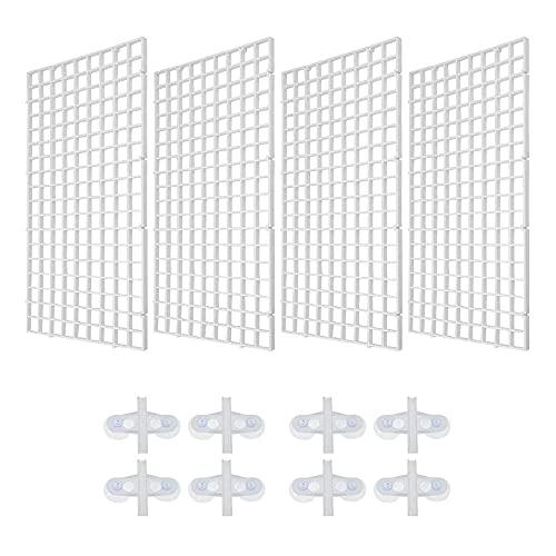 Logther 4Pcs Divisor de Plástico para Acuario, Divisor de Acuario, Separador de Peces, Divisor de Pecera, con 8 Clips de Ventosa, para Separar Peces y Policultivos