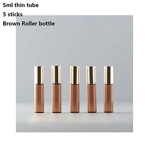 ZJY 5PCS Huile Essentielle Bouteilles 3-15ML for balles à Rouleaux en Acier Inoxydable Parfum Boule de Massage Bouteilles Petite Bouteille Vide Boutei