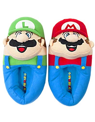 Vanilla Underground Super Mario Bros Mario and Luigi 3D Kid's Slippers