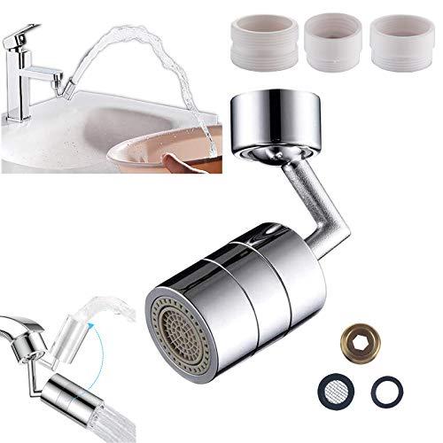 Aireador de grifo giratorio de 720 ° universal antisalpicaduras grifo extensor filtro boca lavado de cara estación de lavado de ojos para baño cocina lavadero fregadero (1 aireador de grifo)
