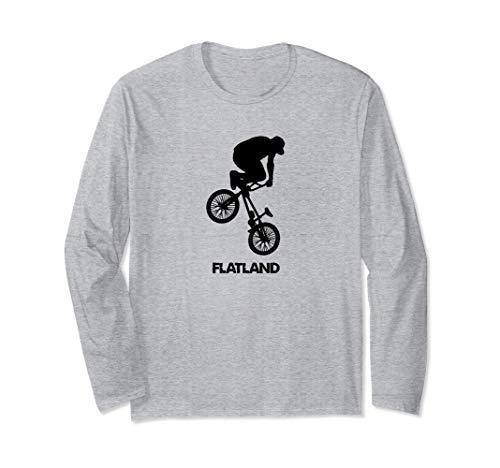 FLATLAND BMX Bike Tee - Flatland bmx bike t shirt Boys Girls Maglia a Manica