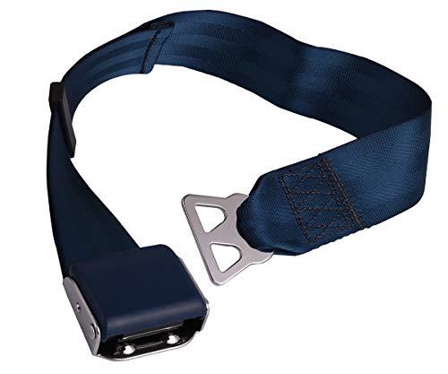 Southwest Airplane Seat Belt Extender - Airline Seatbelt Extension, ECE Safety Certification, Adjustable Long 7-31'(Blue 1Pack)