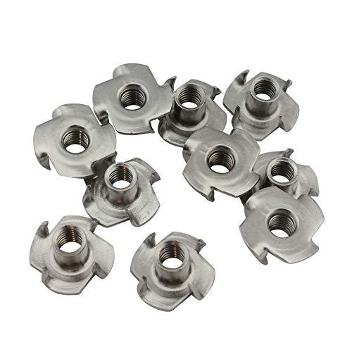 D2D | VPE: 10 Stück - Einschlagmuttern M6 - aus rostfreiem Edelstahl A2 V2A - Einpressmutter