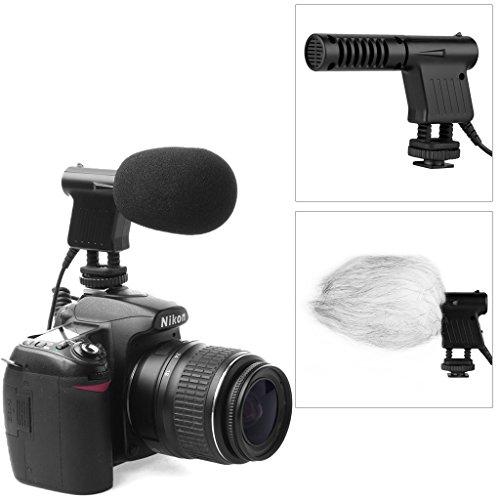 Boya - Micrófono de condensador de vídeo direccional fotográfico, conector de audio de 3,5mm, de bajo ruido, compatible con Nikon D800, D800E, D3200, D600 y conCanonEOS 6D, 650D, 1D, 5D Mark IV, 7D, 60D Penta:K7, K-5Sony:A55, A77, A99...