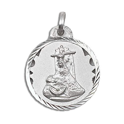 Casa de la Medalla - Medalla Religiosa Virgen de la Angustias 20 mm de Plata de Ley 925 milésimas