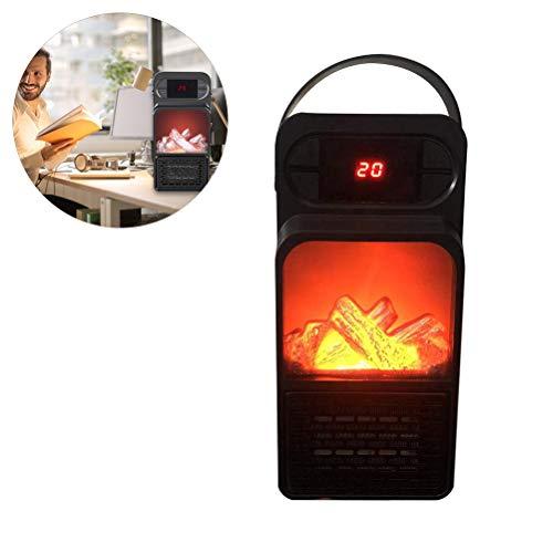 Phayee ruimteverwarmer, draagbare elektrische vlamverwarming, mini-multifunctionele kachel met tijdfunctie voor de hoofdslaapkamer, bureau, badkamer, kantoor, woonkamer