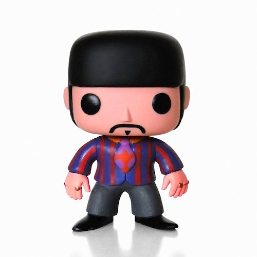 Pop! Rock PDF00004370 - Ringo Starr de The Beatles Yellow Submarine, Figura de 10 cm (Funko FUNWWBH2694) - Figura Head Pop Ringo Star